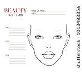 beauty face chart. beautiful... | Shutterstock .eps vector #1013483356