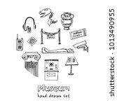 museum hand drawn doodle set.... | Shutterstock .eps vector #1013490955