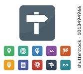 map icons. vector collection... | Shutterstock .eps vector #1013494966