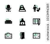 interior icons. vector...