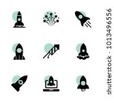 rocket icons. vector collection ...