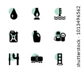 oil icons. vector collection...