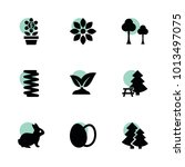 spring icons. vector collection ...