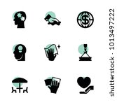 pictograph icons. vector... | Shutterstock .eps vector #1013497222