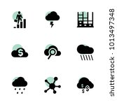 cloud icons. vector collection...