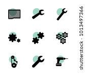 mechanical icons. vector... | Shutterstock .eps vector #1013497366