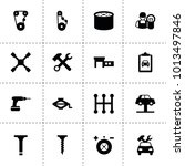 mechanic icons. vector...