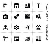 industrial icons. vector... | Shutterstock .eps vector #1013497942