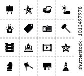space icons. vector collection...