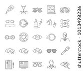 ophtalmology linear icons set.... | Shutterstock .eps vector #1013498236