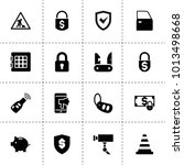 security icons. vector...