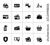 purchase icons. vector... | Shutterstock .eps vector #1013498836