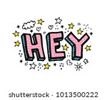 hey. vector cartoon sketch... | Shutterstock .eps vector #1013500222