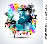 music club background for disco ... | Shutterstock . vector #101350372