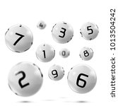 vector lotto white balls with... | Shutterstock .eps vector #1013504242