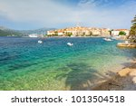 old town of korcula with...   Shutterstock . vector #1013504518
