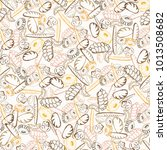 seamless pattern of hand drawn... | Shutterstock .eps vector #1013508682