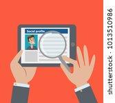 social profile resume. finding... | Shutterstock . vector #1013510986