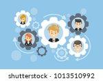 team work gears concept... | Shutterstock . vector #1013510992