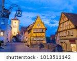 romantic evening in rothenburg...   Shutterstock . vector #1013511142