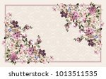 lovely  love pink red happy ... | Shutterstock . vector #1013511535
