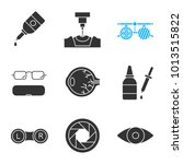 ophtalmology glyph icons set.... | Shutterstock .eps vector #1013515822