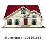 vector illustration of house... | Shutterstock .eps vector #101351956
