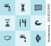 set of 9 flow filled icons such ... | Shutterstock .eps vector #1013521942