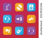 audio icons. vector collection... | Shutterstock .eps vector #1013522146