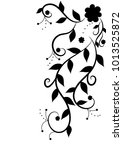 foliate ornament. black and... | Shutterstock .eps vector #1013525872