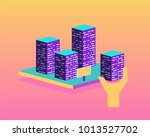 real estate building concept.... | Shutterstock .eps vector #1013527702