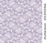 seamless lilac lace background... | Shutterstock . vector #1013532466