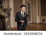 handsome guy wearing expensive... | Shutterstock . vector #1013548276