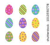 set of cute various colorful... | Shutterstock .eps vector #1013550778