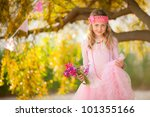 pretty kid fashion | Shutterstock . vector #101355166