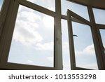 open plastic vinyl window at... | Shutterstock . vector #1013553298