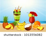 summer drinks ice cream   | Shutterstock .eps vector #1013556082