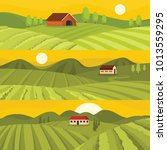 vineyard wine grapes hills... | Shutterstock .eps vector #1013559295
