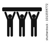 strong teamwork icon. simple... | Shutterstock .eps vector #1013559772
