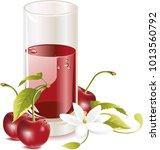 summer drink vector  | Shutterstock .eps vector #1013560792