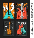 rock  blues music festival... | Shutterstock .eps vector #1013563735