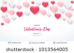 pink 3d hearts and greeting... | Shutterstock .eps vector #1013564005