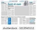 newspaper design template with... | Shutterstock .eps vector #1013565112