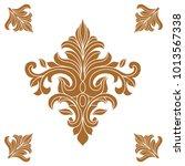 vintage ornament pattern frame. | Shutterstock .eps vector #1013567338