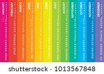 creative wall calendar 2019... | Shutterstock .eps vector #1013567848