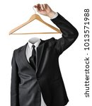 a man without a head with a... | Shutterstock . vector #1013571988