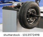 modern tire machine in the...   Shutterstock . vector #1013572498