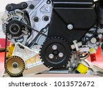 car engine close up | Shutterstock . vector #1013572672