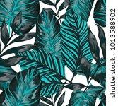 watercolor seamless pattern...   Shutterstock .eps vector #1013588902