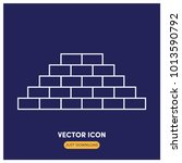 bricks vector icon illustration